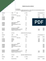 Analisis de Precios Unitarios - Segundo Mes