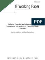 Inflation Targeting and Monetary Policy Transmission Mechanisms in Emerging Market Economies-Sanchita Mukherjee-2011-Pp. 5