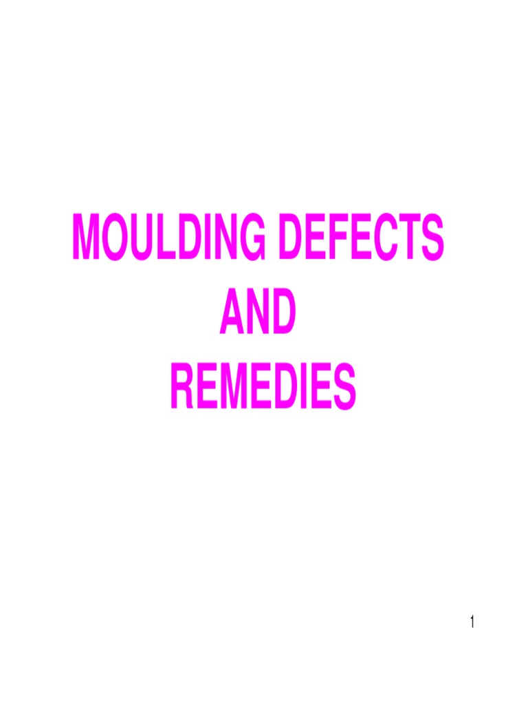 Injection moulding defects and remedies pdf download