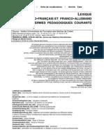 Lexique Germano-frc Et Frc-Allemand Des Termes Pedagogiques