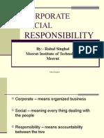 Corporate Social Responsbility, CSR