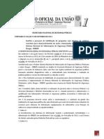 PORTARIA N 128 Institui o processo de habilitação de propostas com objetivo de celebrar convênio para desenvolvimento de ações relacionadas à implementação do SENASP e sobre Drogas