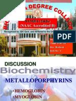 Metalloporphyrins- Hemoglobin and Myoglobin.ppt