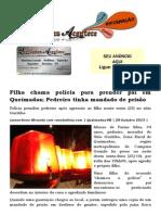 Filha chama polícia para prender pai em Queimadas; Pedreiro tinha mandado de prisão