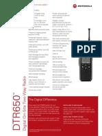 Motorola DTR650 Spec Sheet