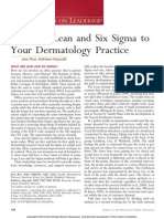 Applying Lean and Six Sigma to your dermatology practice