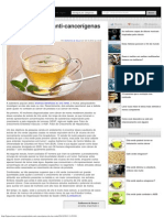 As propriedades anti-cancerígenas do chá verde