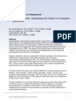 Sustaining the gains in a hospital laboratory