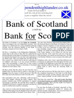 The Bank of Scotland is Not the Bank for Scotland so Says Mr Ross.