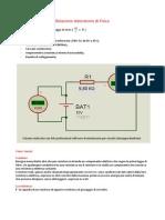 Relazione laboratorio di Fisica prima legge di ohm