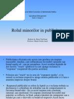 Rolul Minorilor in Publicitate