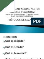 MÉTODOS DE SECADO2