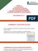 TEMAcombinar y Central Celdas