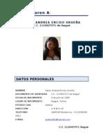 Hoja de Vida ... Andrea Corregida