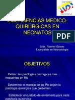 EMERGENCIAS MEDICO- QUIRÚRGICAS EN NEONATOS - REDVENEO