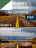 Velocidad y Capacidad de Las Carreteras