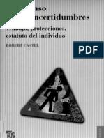 Robert Castel El Ascenso de Las Incertidumbres