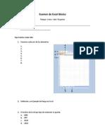 Examen de Excel Teorico