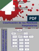 Clasificacion de Residuos Hospitalarios