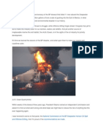 This Saturday marks the third anniversary of the BP blowout that killed 11 men aboard the Deepwater Horizon and sent some 170 million gallons of toxic crude oil gushing into the Gulf of Mexico.docx