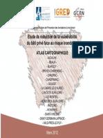Etude de la réduction de la vulnérabilité du bâti privé face au risque inondation - Atlas cartographique
