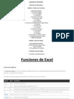 Temario Del Curso de Excel Intermedio