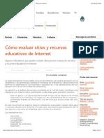 Cómo evaluar sitios y recursos educativos de Internet - Recursos educ.ar