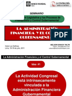 La Administracion Financiera y El Control Gubernamental