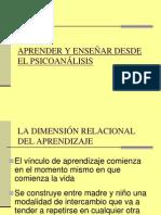 APRENDER Y ENSEÑAR DESDE EL PSICOANÁLISIS