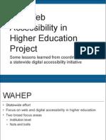Institutionalizing Web Accessibility