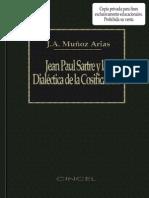 Munoz Arias J a Jean Paul Sartre y La Dialectica de La Cosificacion 1987