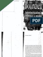 """Bourdieu, Pierre (1976), """"El campo científico"""" en """"Intelectuales, política y poder"""", Buenos Aires, EUDEBA, 2000 (I)"""