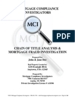 Mortgage Fraud Investigation and Chain of Title Information