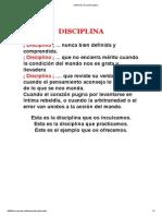 Definición de La Disciplina