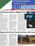 Wagener Monthly November 2013