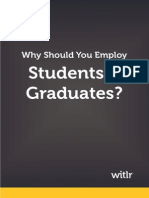 Why should you Employ Students & Graduates?