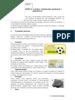 Hoja Informativa Materia Propiedades Generales y Especificas