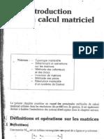 statistiques appliquées - introduction au calcul matriciel