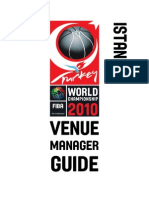 ISTANBUL Venue Manager Guide ISTANBUL