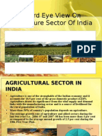 A Bird Eye View on Agriculture Sector of India