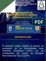 Evaluacion Experimental de Un Concentrador Solar Cilindrico Parabolico