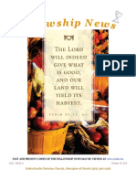October 29, 2013 The Fellowship News