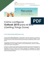 Cómo configurar Outlook 2010 para aplicar GTD Getting Things Done