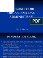 Evolusi Teori Organisasi Dan Administrasi