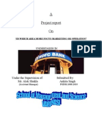 A PROJECT REPORT ON HDFC BANK submiited by Ankita singh