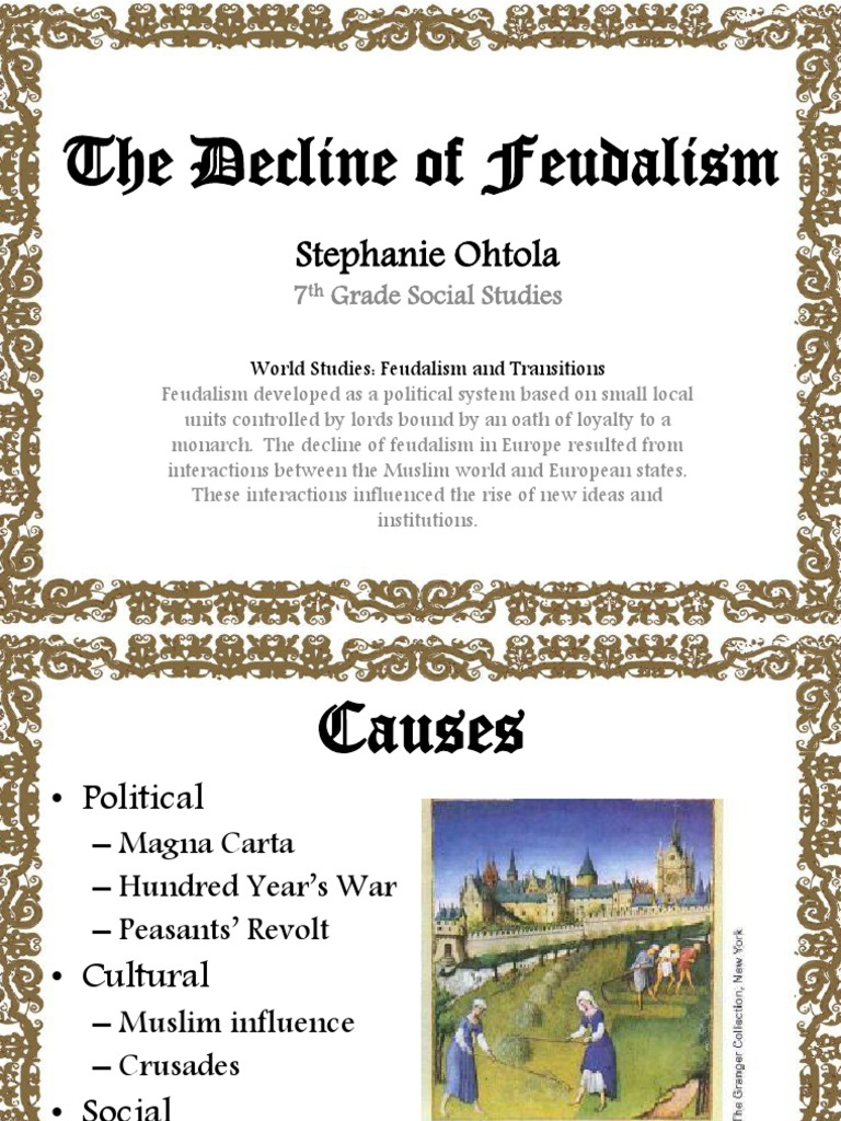 end of feudalism in europe