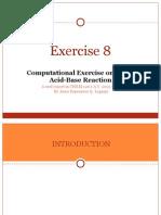 Computational Exercise on Lewis acid base reactions