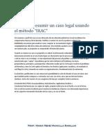 Perfilar o resumir un caso legal usando el método 2013