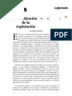 La Jornada- Globalización de la explotación