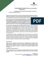 Acuerdo de Colaboración con Ribas Casademont Advocats - Nota de Prensa